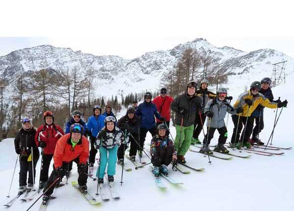 Ibex Group on skis